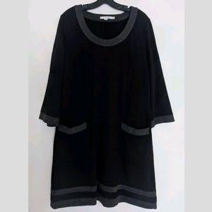 Boden Mod Colorblock Long Sleeve Dress